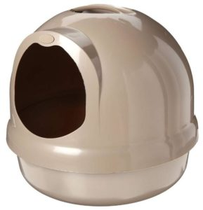 covered cat litter box