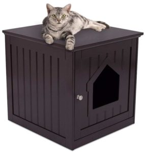 wooden cat litter box