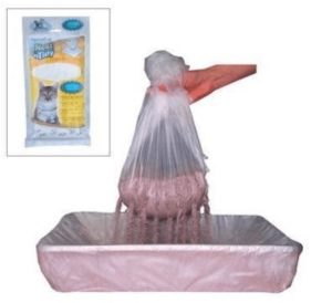 litter box liners with holes