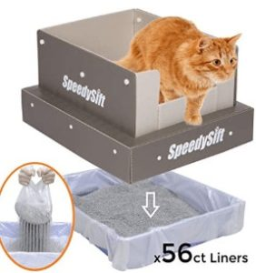 covered sifting litter box