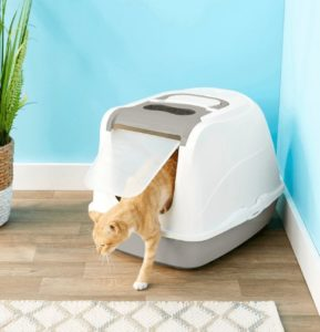 large covered cat litter box