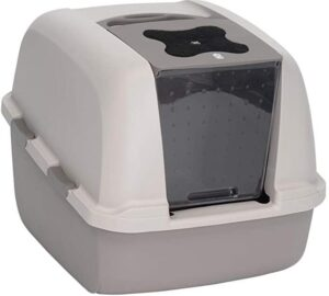 enclosed comfortable indoor cat litter box