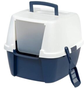 IRIS USA Hooded Easy Cleaning cat litter box