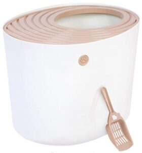 IRIS Top Entry Private cat litter box for 2 cats