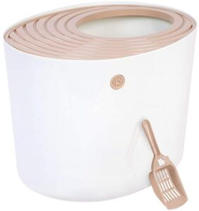 IRIS Large cat litter box with a top entrance