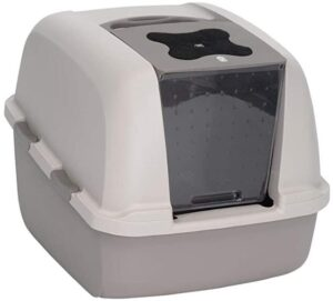 Affordable Catit Jumbo Hooded cat litter box for 2 cats