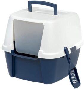 Private IRIS USA Large Hooded Corner litter box