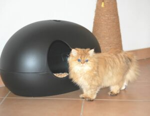 covered litter box for long hair cats