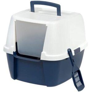 IRIS USA Large Hooded Corner litter box